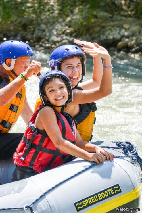 Activité rafting famille Verdon