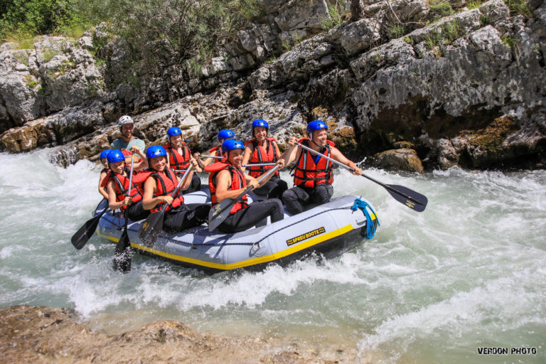 RDV rafting sur le Verdon à Castellane