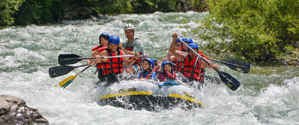 Rafting familles enfants Verdon